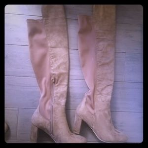 Wild diva lounge brown over th knee boots like new